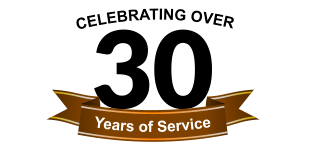 30 Years of Service  Celebrating Over